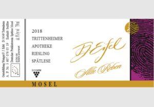 Trittenheimer Apotheke. Riesling Spätlese Alte Reben2018