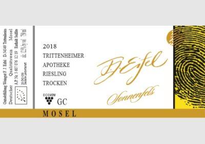 Trittenheimer Apotheke. Riesling Sonnenfels trocken 2018